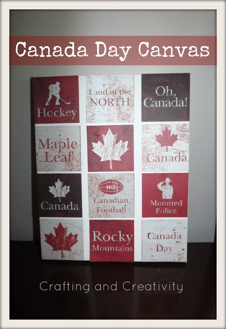 crafting and creativity: Canada Day Canvas