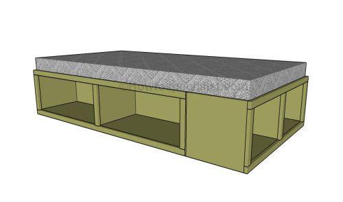 Storage twin bed