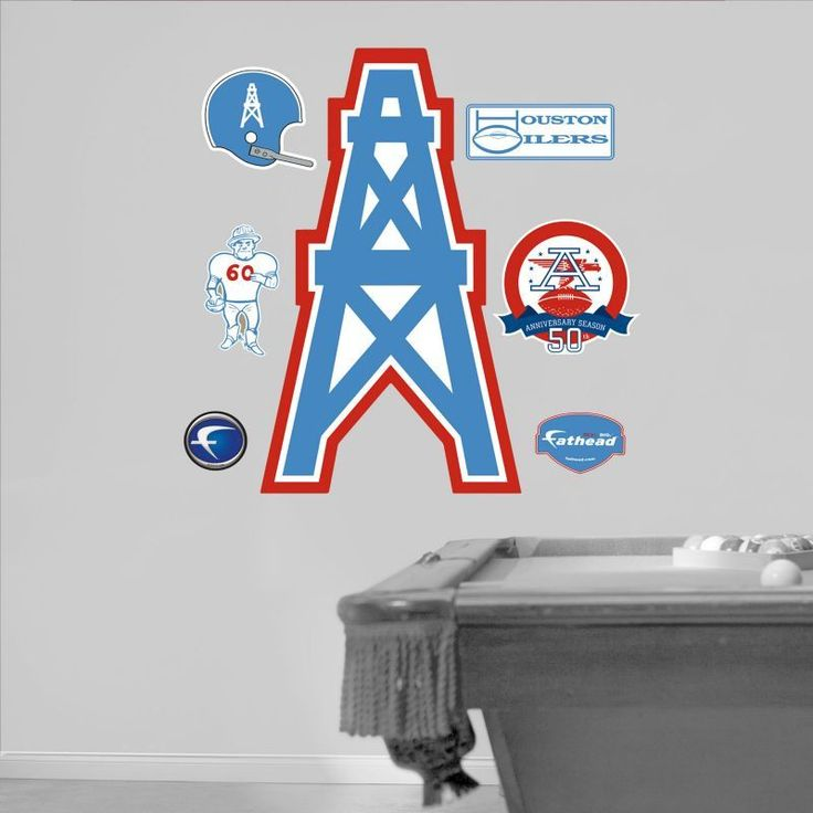 Fathead Houston Oilers Original AFL Logo Wall Graphic, Team