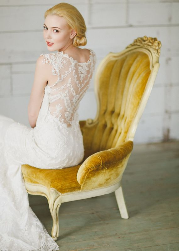 Claire Pettibone wedding dress | Photo by  Apryl Ann Photography | 100 Layer Cake