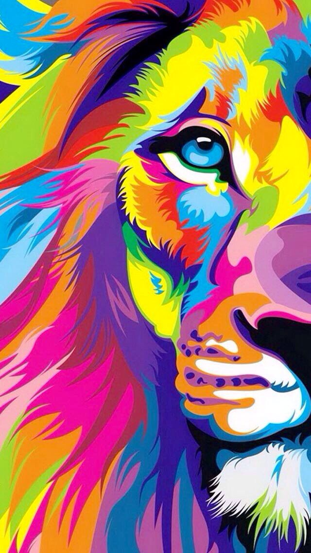 Lion Colourful Art★❤★