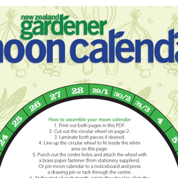 Moon Calendar Nz Gardenernz Gardener Free Download Nature Calendars Pinterest Moon