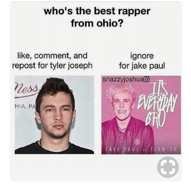 EXCUSE ME??? I SHOULD IGNORE THAT JUST BECAUSE OF HOW RIDICULOUS IT IS. TYLER IS NOT ONLY A BETTER RAPPER AND MUSICIAN BUT ALSO ONE OF THE MOST AMAZING, POLITE AMD KIND PEOPLE ALIVE.
