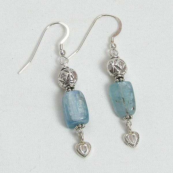 Handmade 925 Sterling Silver Drop Turquoise Haematite Gem Earrings FREE Delivery in UK Gift Wrapped viKty