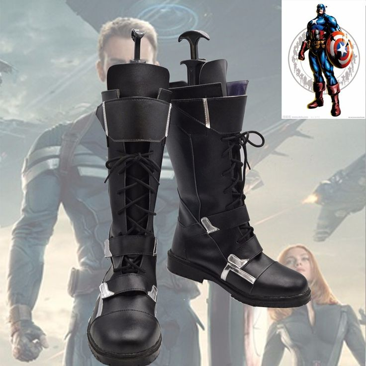 Captain America Winter Soldier Cosplay Boots custom made shoes