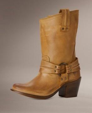 Next, please! Carmen Harness Frye Boot - short tan