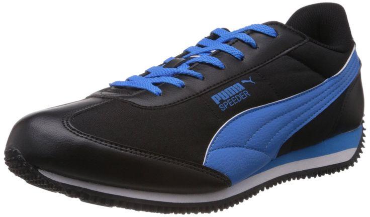 Black and blue puma sports shoes