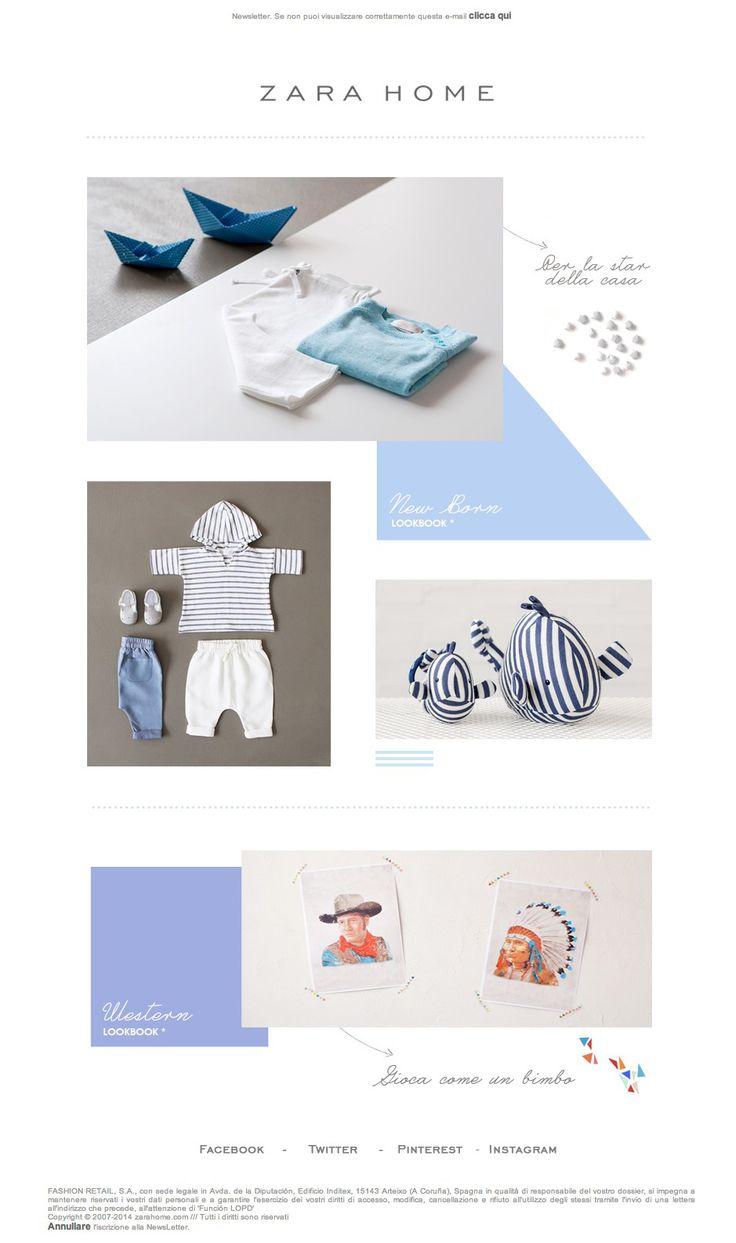 Zara poster design -  Newsletter Kids Zara Home 05 2014 New Born Collezione Lookbook