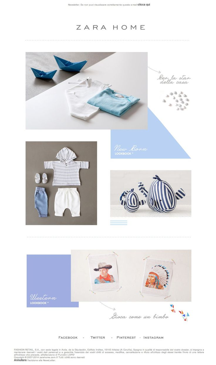 #newsletter #kids Zara Home 05.2014 New Born Collezione: Lookbook