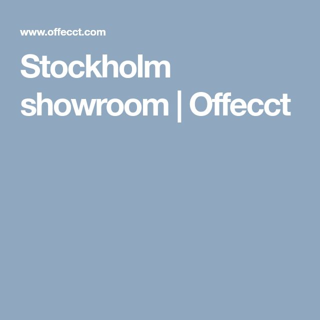 Stockholm showroom | Offecct