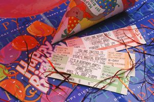 concert tickets for birthday invites!