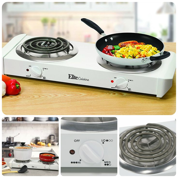 Electric Double Burner Portable Stove Heater Top Burners Cooktop Range Hot  Plate