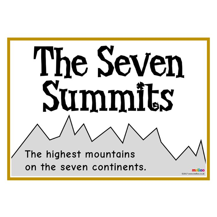 Take your class to the top of the highest mountains with this unique seven summits resource! They'll learn all about Denali, Vinson Massif, Elbrus and more.