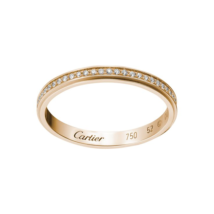Cartier, wedding band, pink gold & diamonds, £2,370