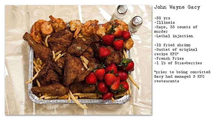 Eerie & Unusual Last Meals Of Inmates On Death Row  John Wayne Gacey...