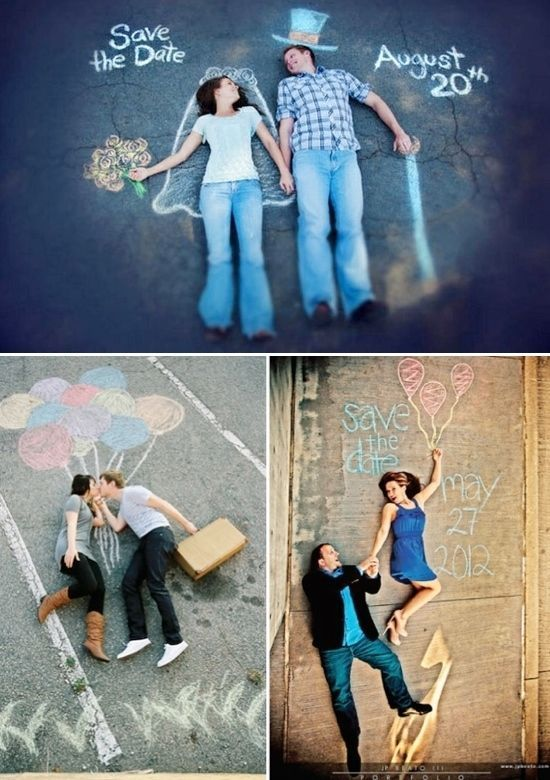 The Chalk Photo and other unique Wedding Announcements http://www.buzzfeed.com/peggy/36-cute-and-clever-ways-to-save-the-date:
