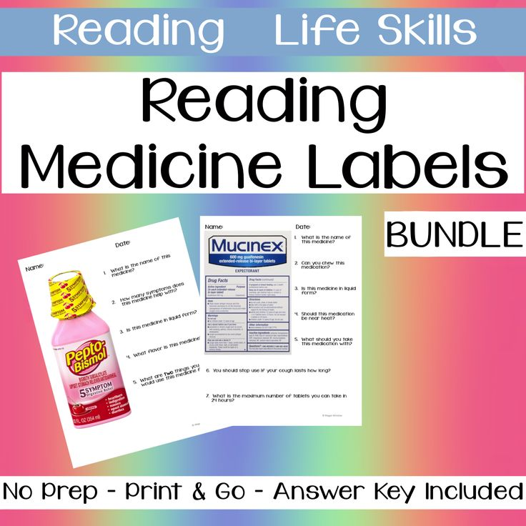 Functional Text Reading Medicine Labels Bundle Life Skills Life Skills Special Needs Students Labels Reading medicine labels worksheets