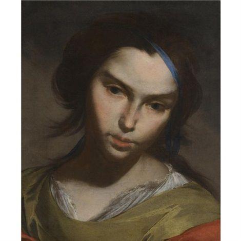 Bernardo Cavallino (Italian, 1616–1656), Portrait of a girl. Medium: oil on canvas; Size: 41.8 x 35.3 cm. (16.5 x 13.9 in.)