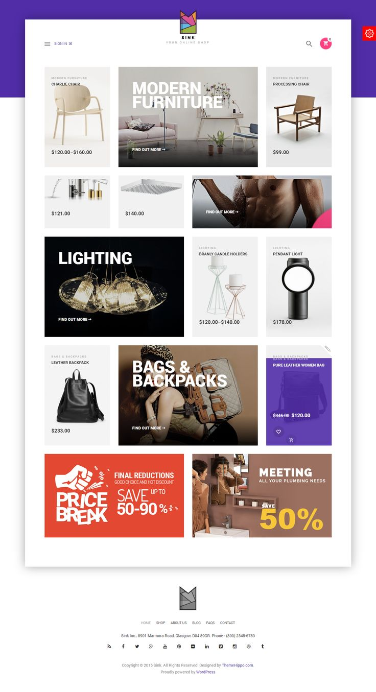 Do you think start your small online shop? So Sink is only for you. I think this theme will be perfect match with your business.It is wordpress e-commerce theme. Really it is extraordinary theme. To know details about sink visit today.