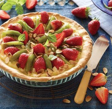 Kiwitærte med jordbær. Det søde punktum - en superlet frugtærte
