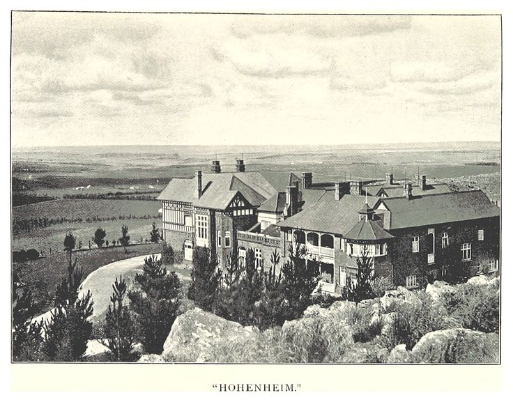 Hohenheim was the first of the Parktown mansions when completed in 1894. It was demolished in 1972 when the Johannesburg Academic Hospital was built.