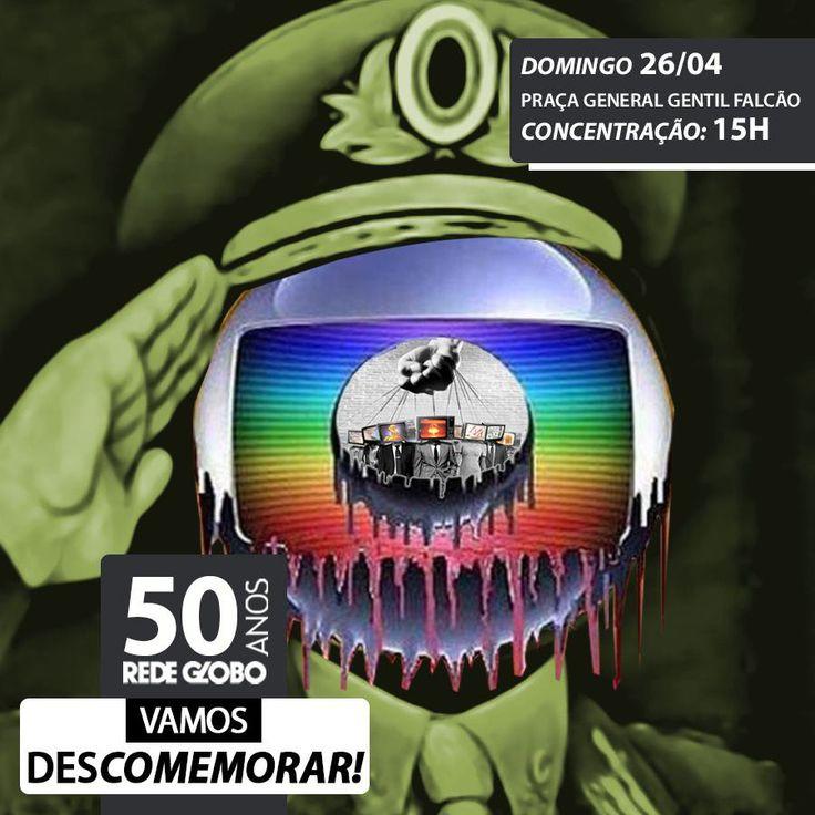 """Movimentos sociais lançam manifesto de  """"descomemoração"""" dos 50 anos da Globo  TV GROBO: COBERTURA TOTAL AOS  SAQUEADORES DO BRASIL.  OS EUA E A GLOBO GOLPISTA DESRESPEITAM  A LEI, A CONSTITUIÇÃO DO BRASIL,  QUANDO PROMOVE  O CAOS E  O GOLPE, LEVANDO  O POVO TELEGUIADO, ALIENADO E MIDIOTIZADO  PARAS AS RUAS .  A TV GLOBO  """"ESQUECE"""" E """"IGNORA"""", NOSSOS MAIS DE 54% D VOTOS NAS URNAS, QUANDO PROMOVE  O GOLPE E  TRAMA  O CAOS DO BRASIL E  DA PETROBRAS!  O judiciário, com seus falsos hérois…"""