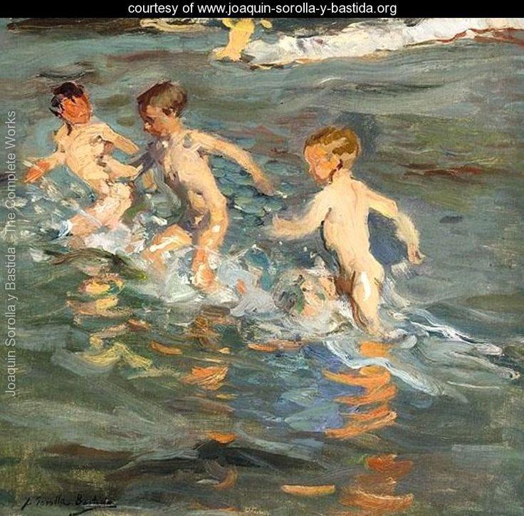 Niños En La Playa (Niños en la playa) - Joaquín Sorolla y Bastida - www.joaquin-sorolla-y-bastida.org