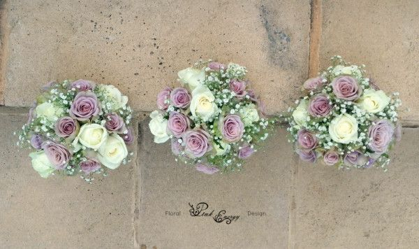 Bridesmaids bouquets - view from the top - Floral Design  by www.pinkenergyfloraldesign.co.za