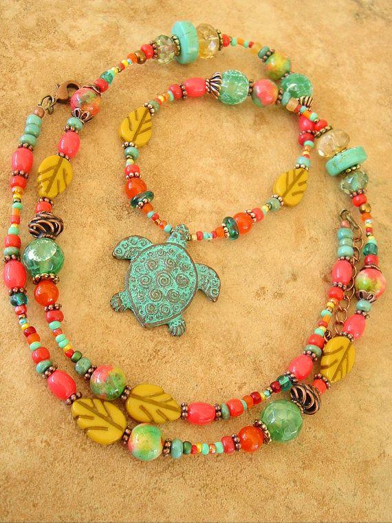 Boho Necklace Tribal Jewelry Southwest Jewelry by BohoStyleMe