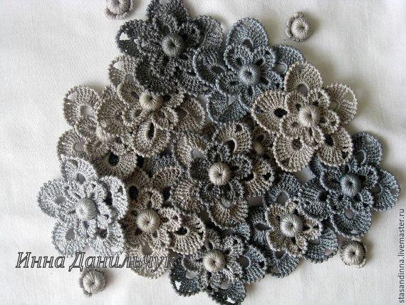 30 au crochet fleurs aplikacyj. dentelle irlandaise. par InnaDel