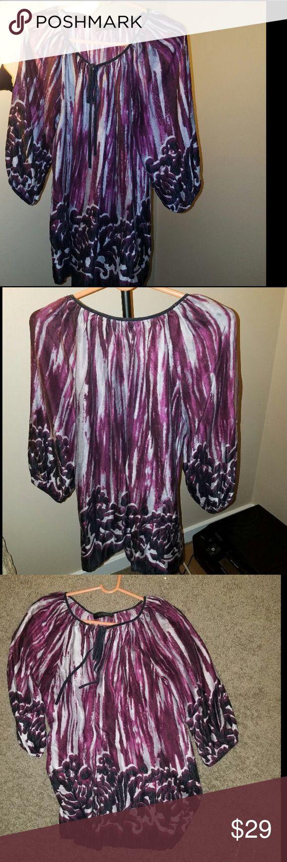 Karen Kane 100% silk blouse See photos for more details 100% silk Worn once Karen Kane Tops Blouses