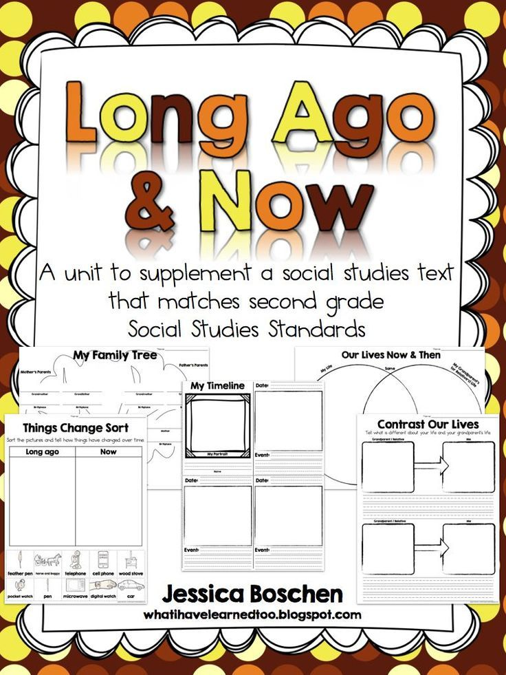 Social Studies Worksheets For Elementary : Long ago and today sort an interactive notebook freebie