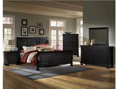 Vaughan Bassett Reflections Mansion Storage Bedroom Set In Ebony