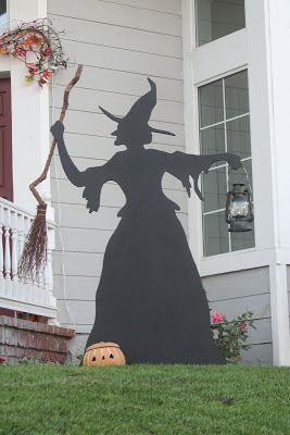 witch 6 ft tall plywood silhouette martha stewart pattern halloween witch decorationshalloween witchesholidays halloweenhalloween - Halloween Witch Decorations
