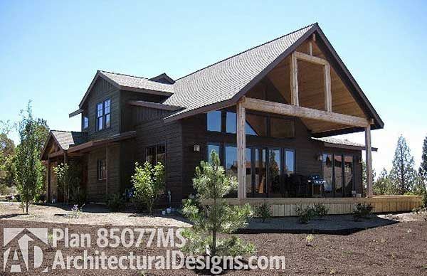 Outdoor Living Floor Plans: Plan 85077MS: 3 Bed Craftsman With Lodge-like Feel