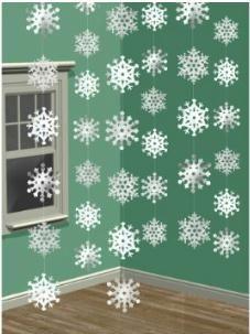 Gibts HIER http://amzn.to/2fUqfqG weihnachtsdeko ideen Amscan / Hängegirlanden Schneeflocke