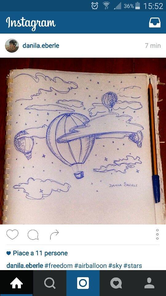 #freedom #airballoons #sky #stars #pen #hope #love   -Follow me on Instagram-