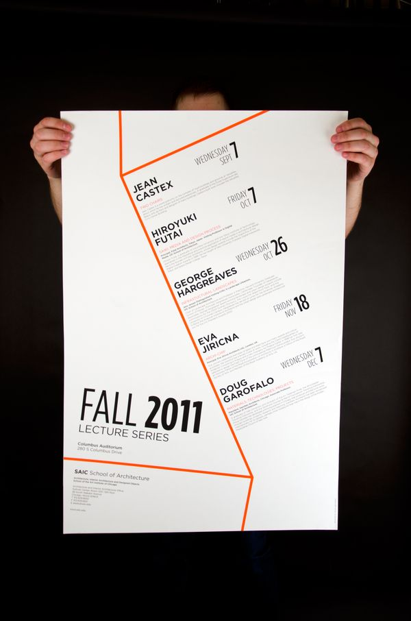 Architecture Lecture Poster on the AIGA Member Gallery