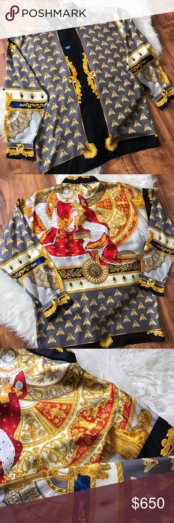 Authentic Gianni Versace silk shirt. Authentic Gianni Versace Men's King Cesar silk shirt. Versace Shirts