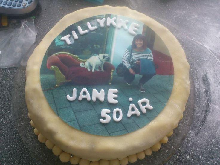 Kage til min mors kollega i forbindelse med hendes 50 års fødselsdag