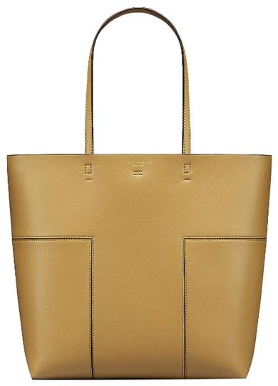 0d0a9e1fc Tory Burch Block-T T British Tall Tan Leather Tote. Get one of the
