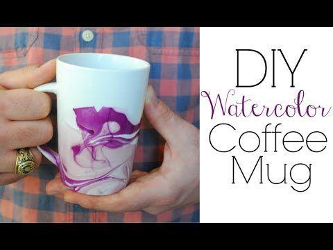 Create A Gorgeous DIY Watercolor Coffee Mug - Gwyl.io