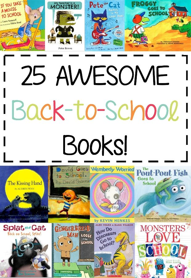 Great list of books to read to kids before they start the school year! {back to school}