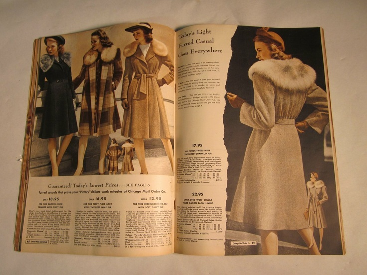 1944 chicago mail order company s fashion catalog