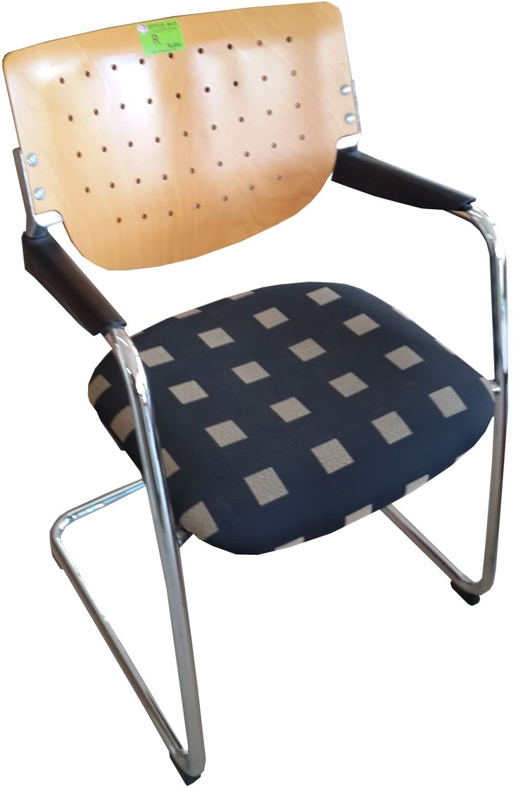 Beech wood & Chrome sleighbase visitors chairs @ R425.00
