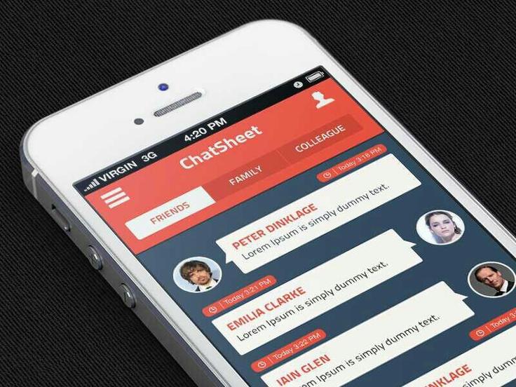 UI iPhone messaging