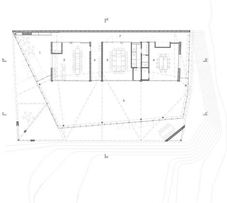 Floor plan of Community Home by Marc Koehler Architects