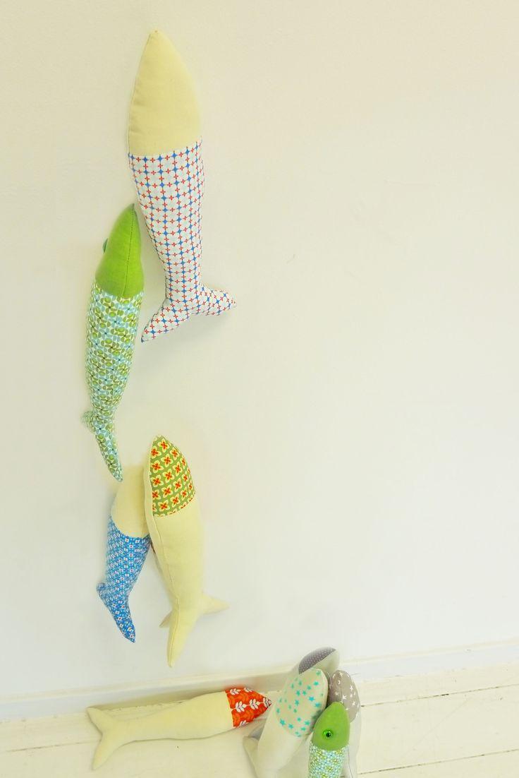 poisson réalisé avec les tissus des  Tissus du Chien Vert