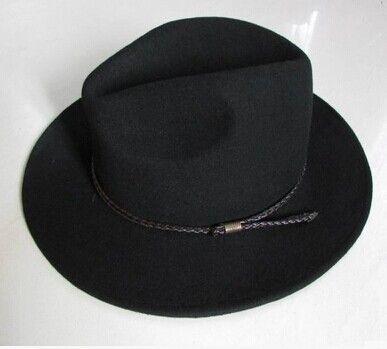 Панама шляпа шерстяной войлок Fedora шляпы для мужчины женщины 7 см краев джентльмен шляпа черный кофе темно-серый шерстяной войлок джаз шляпа ремень украшения