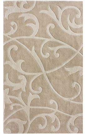 Keno Collection Scrolling Vines Rug in Beige $159+